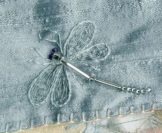 bugle bead dragonfly | CQMagOnline.com - The world's first online magazine for Crazy Quilting ...