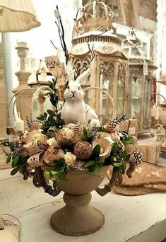 34 Easter holidays as house decoration # house decoration # Easter holidays . - 34 Easter holidays as a home decoration - Oster Dekor, Diy Osterschmuck, Easy Diy, Easter Table Decorations, Easter Centerpiece, Spring Decorations, Table Centerpieces, Easter Parade, Deco Floral