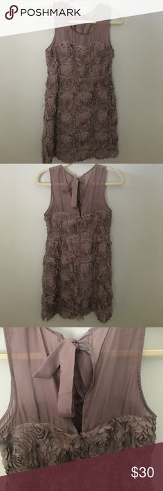 🆕 Floral Taupe Cocktail Dress Beautiful! Never worn. Didn't come with a tag but it was never worn. Has zipper in back Dresses Mini