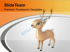 Christmas Reindeer Winter Holidays PowerPoint Templates PPT Themes And Graphics #PowerPoint #Templates #Themes #Background