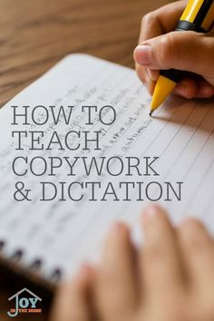 Copywork and Dictation was Charlotte Mason's method for spelling and grammar. Doing it right, with these goals in mind, will give your children a solid foundation without the tedious curriculum that they often dislike. Science Writing, Kids Writing, Writing Ideas, Writing Activities, School Plan, School Ideas, Spelling And Grammar, Charlotte Mason, Homeschool Curriculum