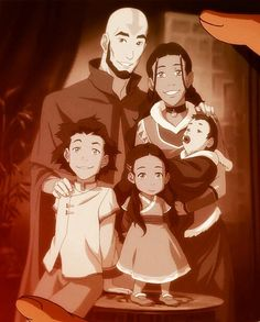 Avatar the Last Airbender - Avatar Aang x Katara & family they were such a cute family