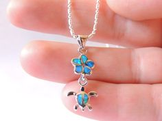 Opal Turtle Necklace Sea Opal Necklace Turtle by AlwaysCrafty77