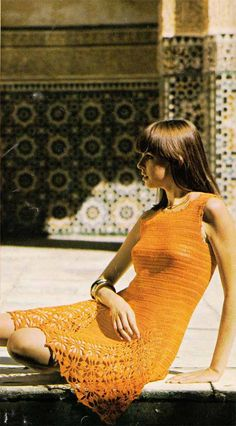 1960s Crochet Dress Pattern Pdf Boho SUMMER by GrannyTakesATrip, $3.00