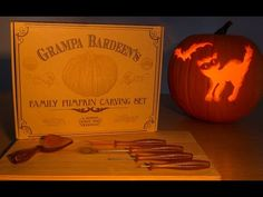Grampa Bardeen's pumpkin carving tools come in a 10 piece kit so the whole family can work at once. This ultimate pumpkin carving kit is perfect for Halloween. Holidays Halloween, Happy Halloween, Halloween Decorations, Halloween Pumpkins, Halloween Foods, Vintage Halloween, Halloween Ideas, Halloween Party, Pumpkin Carving Tools