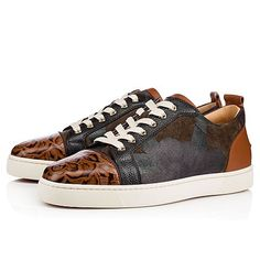 Christian Louboutin United States Official Online Boutique - Louis Junior Men's Flat Version Brown Leather available online. Discover more Men Shoes by Christian Louboutin Leather Men, Brown Leather, Red Sole, Online Boutiques, Casual Shoes, Men's Shoes, High Top Sneakers, Christian Louboutin, Floral Prints