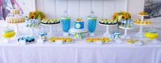 Rubber Ducky Dessert Table #SweetEsBakeShop #RubberDucky