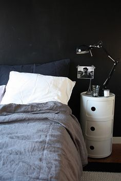 Via Mrs Jones | Black White Grey | Bedroom | Kartell Componibili