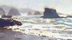 Mike Hernandez     Cannon beach Oregon 6x9 gouache