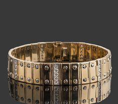 Men's Diamond Bracelet 1.62 TCW ID Link Bracelet