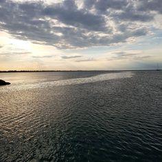 #sea #beach #riminibeach #clouds #igersrimini #sky #nuvole #cielo #rimini #vivorimini #porto #vistadalporto #darsena #tramonto #sunset by poggipier