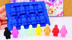 LEGO Figuren aus Wolkenschleim & Silk Clay?!  Foam Clay in Silikon Forme...