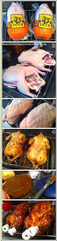 Maui style slow roasted duck