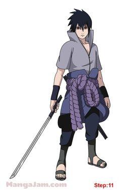 how_draw_sasuke-uchiha_naruto_10 Naruto Vs Sasuke, Anime Naruto, Shippuden Sasuke Uchiha, Anime Echii, Naruto Team 7, Naruto Shippuden Sasuke, Sakura And Sasuke, Naruto Art, Sasunaru