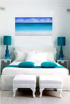 Turquoise Room Ideas - Well, just how about a touch of turquoise in your room? Establish your heart to see it since this write-up will give you turquoise room ideas. Bedroom Interior Colour, Interior Color Schemes, Home Decor Bedroom, Decor Interior Design, Interior Decorating, Interior Paint, Decorating Ideas, Decorating Websites, Design Websites