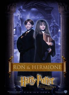 Harry Potter and the Sorcerer's Stone: Ron and Hermione [Poster design by B.D. Fox Independent]