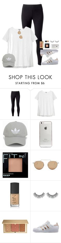 """""""lol not u again."""" by lydia-hh ❤ liked on Polyvore featuring Jockey, Clu, adidas Originals, Agent 18, Maybelline, Illesteva, NARS Cosmetics and Estée Lauder"""