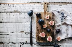 {<3} Grilled Figs with Homemade Lavender Crème Fraîche by Beth Kirby on @Food52