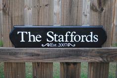 Custom Established Sign by JoyfulHomeDesigns on Etsy