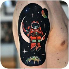 man on the moon tattoo