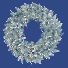 5′ Pre-Lit Silver Ashley Spruce Tinsel Christmas Wreath – Clear Lights  http://www.fivedollarmarket.com/5-pre-lit-silver-ashley-spruce-tinsel-christmas-wreath-clear-lights/
