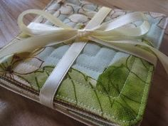 Drink Coasters from Scraps of Fabric favorite-places-and-spaces