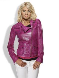 #HeineShoppingliste Lederjacke im Biker-Stil in pink