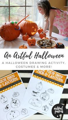An Artful Halloween: A Halloween Drawing Activity Costume Ideas And Much More! Lots of fun ideas for Halloween arts and crafts for kids including a Halloween drawing activity pumpkin decorating costumes and much more! Source by funlovingfamilies Diy Halloween Gifts, Diy Halloween Home Decor, Halloween Arts And Crafts, Halloween Decorations For Kids, Halloween Activities For Kids, Diy Holiday Gifts, Art Activities For Kids, Crafts For Kids To Make, Creative Activities