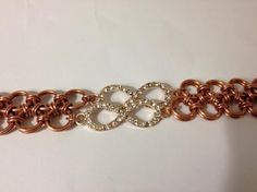 Copper Lace with Rhinestone Infinity on Handmade Artists' Shop