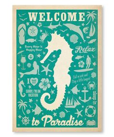Another great find on #zulily! 'Welcome to Paradise' Wall Art #zulilyfinds
