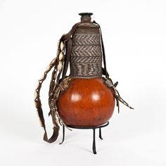 DECORATED GOURD FROM ETHIOPIA