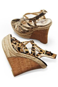 Exotic strappy wedge