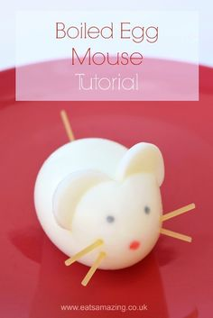 Tutorial - How to make a boiled egg mouse from Eats Amazing UK - healthy cute food for kids - great snack idea or fun surprise for a lunch box