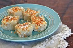 Sweet Jellied Coconut Squares- Coconut Sweetmeat | Girl Cooks World