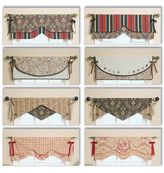 Free Valance Patterns | 151 2 long from center valances b c d 16 long all valances have ...