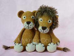 Crochet pattern  Lisa and Leo Lion por MyKrissieDolls en Etsy
