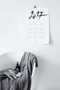 MA MAISON BLANCHE Calendar 2017 | Calligraphy & Minimalistic typography…