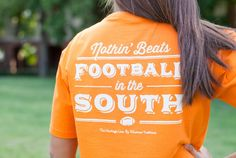 Football in the South Pocket Tee - Orange