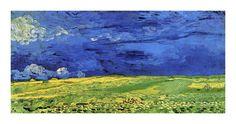 Wheatfields under Thunderclouds by Vincent Van Gogh