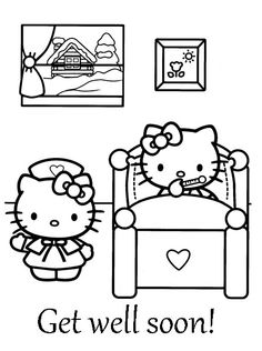 Get well soon coloring pages to download and print for