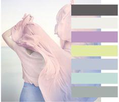Модное сочетание 2016. Палитра с преобладанием темно-серого и модных оттенков Розового кварца и Серенити состоит из следующих тонов: гранитного серого (18-5204 ТСХ), танцующего облака (11-4201 ТСХ), люпинового (16-3521 ТСХ), мерцающе зеленым (12-0525 ТСХ), арктическим льдом (13-4110 ТСХ), синим опалом (12-5406 ТСХ), пуританским серым (15-4702 ТСХ).
