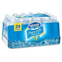 Nestlé® Pure Life® Bottled Purified Water, 16.9 oz. Bottles, 24/Case by Nestle  (61)Buy new:   $  13.18 5 used & new from $  12.99(Visit the Best Sellers in Home & Kitchen list for authoritative information on this product's current rank.) Amazon.com: Best Sellers in Home & Kitchen...