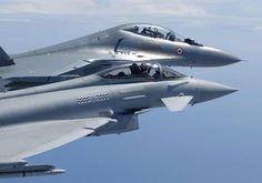 Eurofighter Typhoon and Su-30 MKI