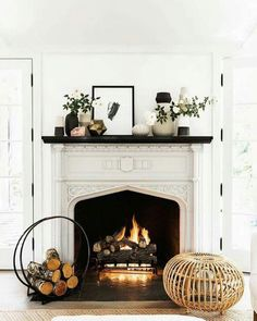 Time to get your house ready for fall! Here are seven ways to create a cozy fireplace, plus fireplace tools and accessories.