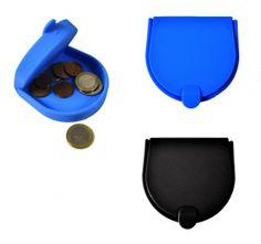 MONEDERO DE SILICONA color azul ó negro