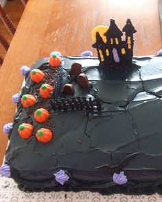 Haunted Black Forest Layer Cake with Espresso Cream | Halloween and ...