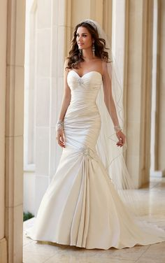 Wedding Dresses - Strapless Fit and Flare Wedding Dress by Stella York - Style 5980