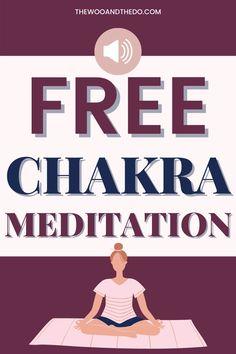 Download this free chakra meditation to help with chronic chakra imbalances. #chakra #chakrabalances #chakrameditation #chakrahealing Meditation Kids, Meditation For Beginners, Meditation Techniques, Guided Meditation, Root Chakra Healing, Sacral Chakra, Chakras, Meditation Crystals, Chakra Meditation