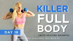 FULL BODY INTENSE & SWEATY WORKOUT / BURN AND BUILD ( with weights) - DAY 18 - YouTube