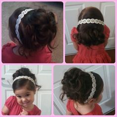 Flower girl hair